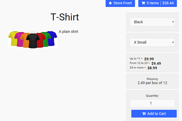 addUI Store: A JavaScript Shopping Cart